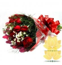 Buque de Rosas Vermelhas Tradicional